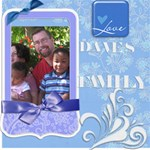 Daves Family - ScrapBook Page 8  x 8