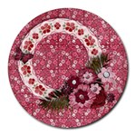 Pink Floral/Wildbriar-round mousepad