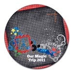Magic Trip/vacation-round mousepad