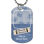 Lets Get Beachy Beach Bound Tag - Dog Tag (One Side)