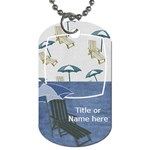 Lets Get Beachy Umbrella Tag - Dog Tag (One Side)