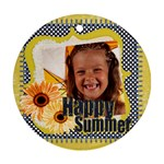 summer - Round Ornament (Two Sides)