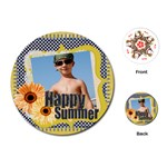 happy summer - Playing Cards (Round)