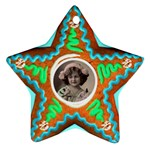 Gingerbread Cookie Star Ornament single sided - Ornament (Star)