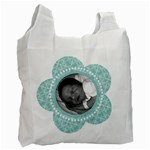 Tiffany Blue 2 Sided Recycle Bag - Recycle Bag (Two Side)