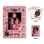 Girls playing cards - Playing Cards Single Design