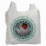 Boy - Cute as a Button Recycle Bag - Recycle Bag (One Side)