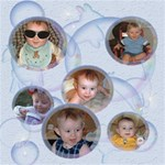 Bubbles 8x8 Scrapbook Pages - ScrapBook Page 8  x 8