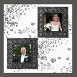 Bride & Groom Monochrome Dove  20 inch canvas - Canvas 20  x 20