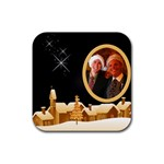 Christmas Village coaster - Rubber Coaster (Square)