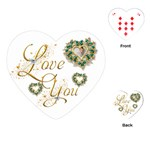 Love You Heart Playing Cards - Playing Cards Single Design (Heart)