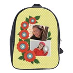 School Bag (Large)- Red Flowers