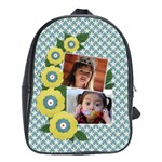 School Bag (Large)- Yellow Flowers