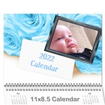 Roses for you (any Year) 2020 Calendar - Wall Calendar 11  x 8.5  (12-Months)
