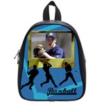 School bag small - i love baseball - School Bag (Small)
