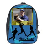 School bag large - I love baseball - School Bag (Large)