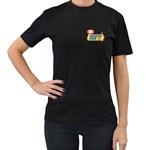 warped 2 - Women s T-Shirt (Black) (Two Sided)