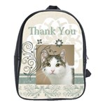 thank you bag - School Bag (Large)