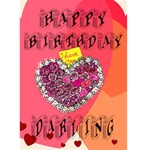 Happy Birthday Darling. - Greeting Card 5  x 7