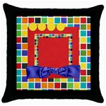 WKM@School 1 sided pillow 1 - Throw Pillow Case (Black)