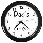 shed clock - Wall Clock (Black)