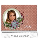 18 month 2015 calendar/family-any theme - Wall Calendar 11  x 8.5  (18 Months)