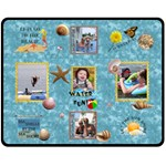 Beach Medium Fleece Blanket - Fleece Blanket (Medium)