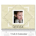 Damask Wedding 2019 Calendar  - Wall Calendar 11  x 8.5  (12-Months)