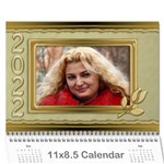 Formal elegant 2021 (any Year) Calendar - Wall Calendar 11  x 8.5  (12-Months)