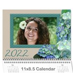 Hydranga delight 2021 (Any year) Calendar - Wall Calendar 11  x 8.5  (12-Months)
