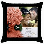 Apricot Wedding throw Pillow - Throw Pillow Case (Black)