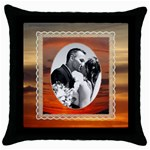 Sunset Throw Pillow - Throw Pillow Case (Black)