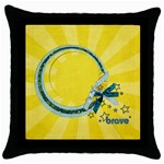 Brave/Kids Pillowcase (1 side) - Throw Pillow Case (Black)