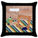 Bedtime monsters/Boys- pillow (1side) - Throw Pillow Case (Black)