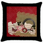 Blessed/Christmas- pillow (1side) - Throw Pillow Case (Black)