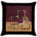 Wild about you/ Love- pillow (1side) - Throw Pillow Case (Black)