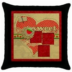 Sweet Strawberry- pillow (1side) - Throw Pillow Case (Black)