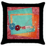 Together/Family- pillow (1side) - Throw Pillow Case (Black)