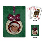 Christmas ornament-playing cards - Playing Cards Single Design (Rectangle)