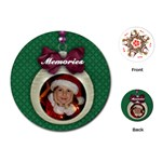 Christmas ornament-round playing cards - Playing Cards Single Design (Round)