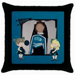 go team - Throw Pillow Case (Black)