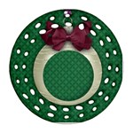 Christmas ornament, filagree, 2 sides - Round Filigree Ornament (Two Sides)