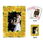 Lemon Roses playing cards - Playing Cards Single Design