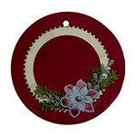 Holiday Wreath/Christmas-Ornament (Round, 1 side) - Ornament (Round)