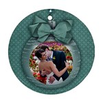 Christmas ornament/blue holiday-Ornament (Round, 1 side) - Ornament (Round)