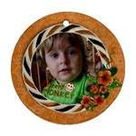 Cheeky Monkey-Ornament (Round, 1 side) - Ornament (Round)