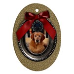 Christmas/blessings-ornament (oval, 2 sides) - Oval Ornament (Two Sides)