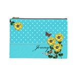 Cosmetic Bag (Large) - Yellow Flowers 4U