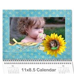 Sunflowers/Family-Photo 2015 Calendar (12 months) - Wall Calendar 11  x 8.5  (12-Months)