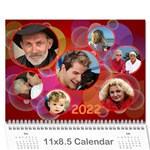 Bubbles 2021 (any Year) Calendar - Wall Calendar 11  x 8.5  (12-Months)